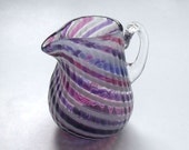 Mini Pitcher - Pink Purple Stripes :DISASTER RELIEF