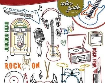 Rock'n & Roll'n Embroidery Pattern