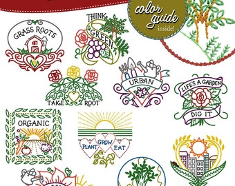Urban Garden Embroidery Pattern