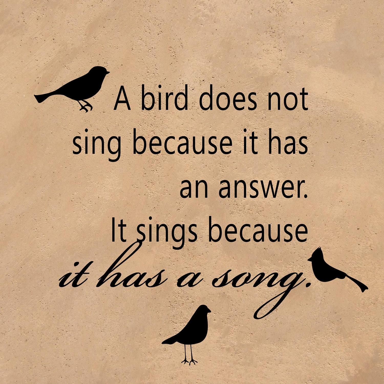 A Bird...Sings Because It Has A Song Inspirational Vinyl
