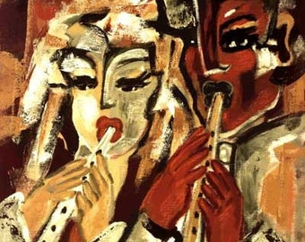 """Jacqueline Ditt - """"Clarinets"""" print after a painting"""