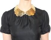 Lacy Brass Peter Pan Collar