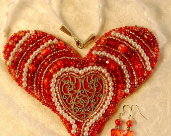 Bib Statement Necklace and Earring Set - ON SALE!