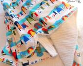 LAST oNE: 15% off Chenille Baby Blanket  RESORT CABANA  by BoobooAndReg