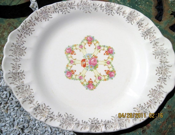 Shabby Country Cottage Farmhouse Granny Chic Serving Plate