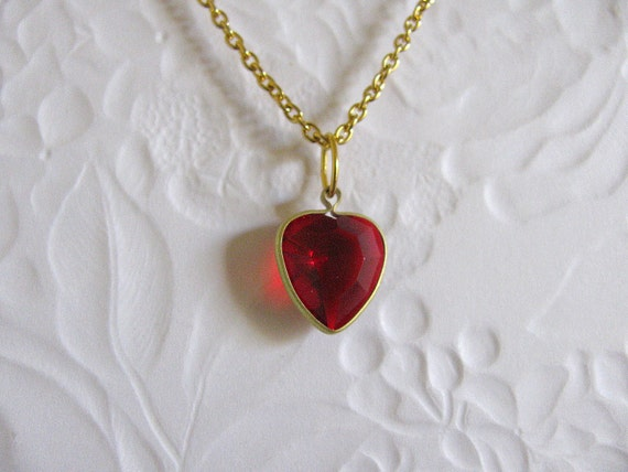 Zelda Red Replenishing Heart Charm Necklace