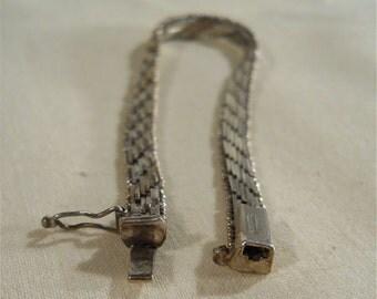 Italian sterling silver woven bracelet