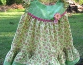 Yellow and Green Ruffled Sundress Size 12-18 months