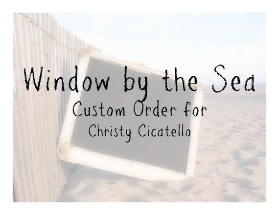 Custom Escort Card Holder for Christy: Chalkboard and Cork Board