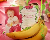 Girl Mod Monkey Party Invitations