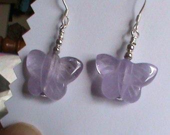 Amethyst Butterfly  Earrings