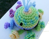 Lindsay the Octopus a Crocheted Amigurumi Toy ready to ship