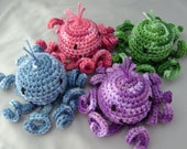Amigurumi Octopus Stuffed Toy in Jewel Tones