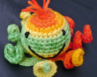 Tutty Fruity - A Stuffed Amigurumi Toy Octopus ready to ship