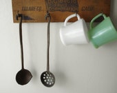 Vintage Cast Iron Ladle Wall Hangings - Set of 2
