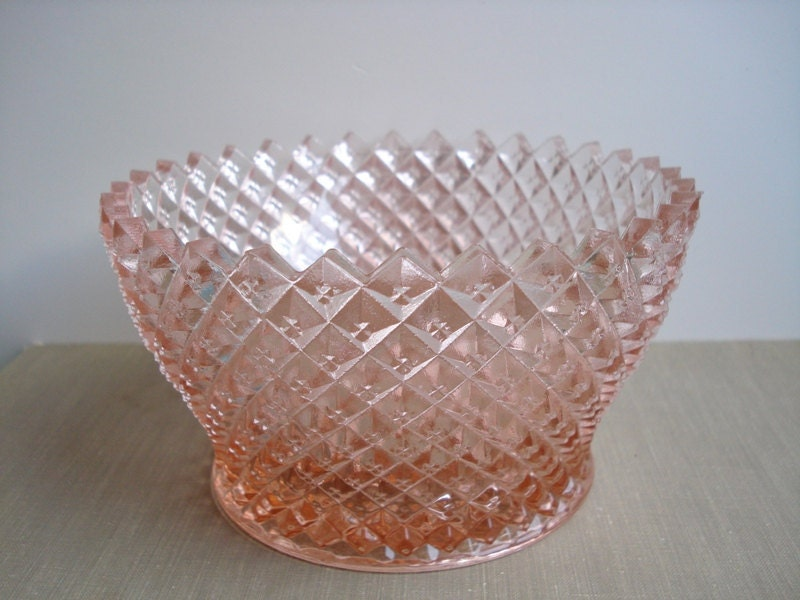 Vintage Pink Depression Glass Bowl Westmoreland English