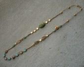 Scarab Macrame Necklace