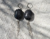 Scarab Chain Earrings