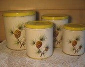 Vintage Decoware Canisters