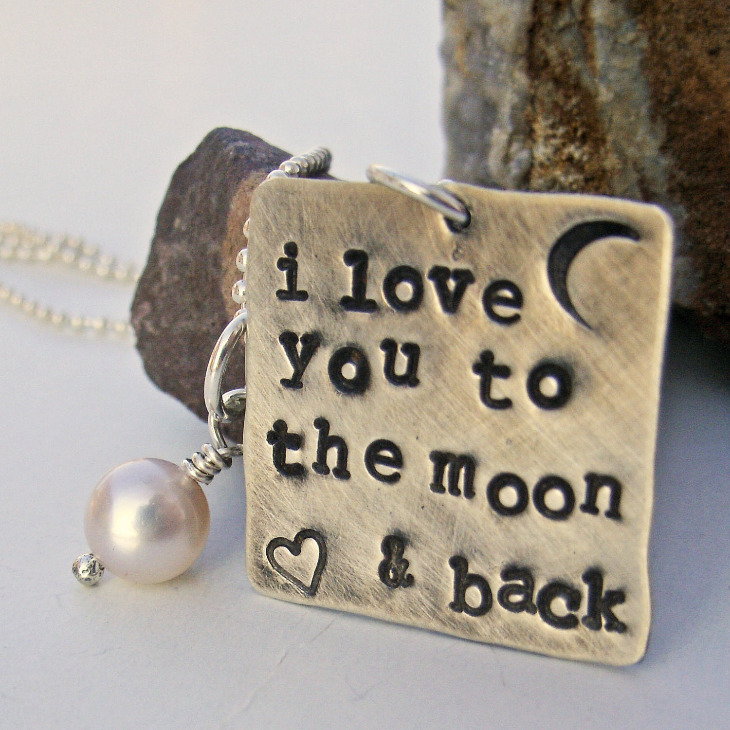 I Love You To The Moon And Back: I Love You To The Moon And Back Necklace By