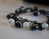 Black and White Baubles Bracelet