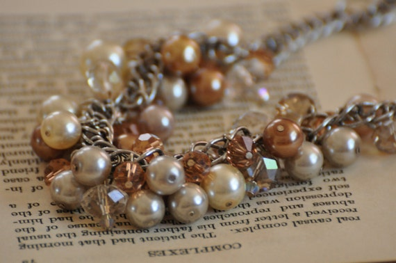 Cryatal and Pearl Baubles beaded necklace