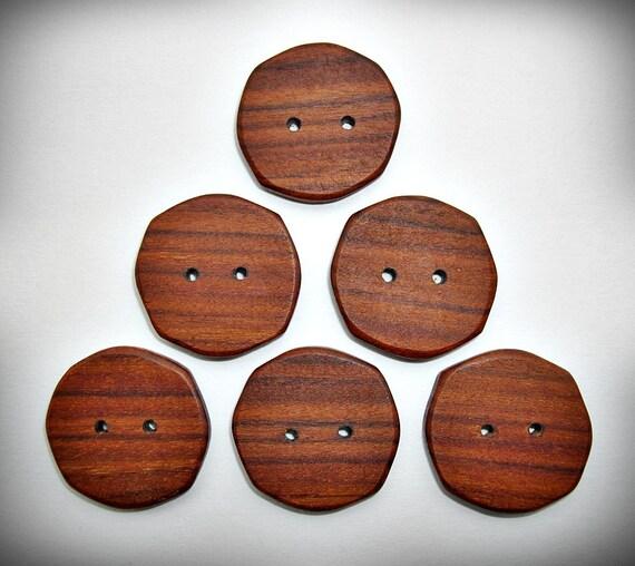 """Handmade 1 1/8"""" Rosewood Buttons"""