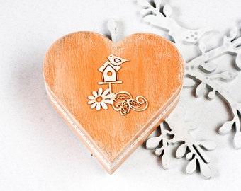 Wedding Ring Box Ring Bearer Box Wedding Box Bird Wedding Box Pillow Alternative Jewelry box Memory box Wedding Ring Holder Country wedding