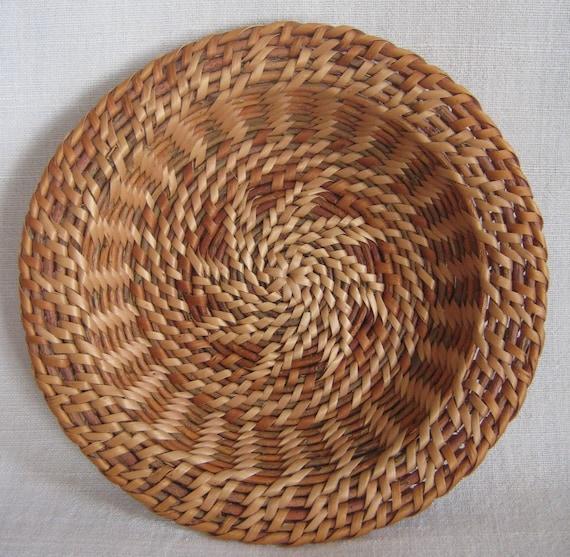 Wheat sun woven platter