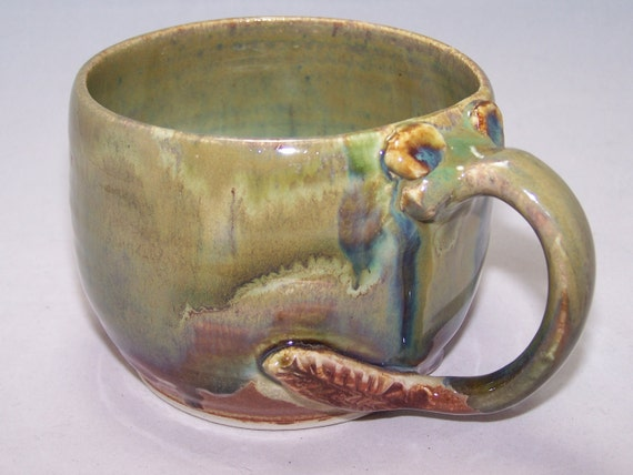 A Ceramic Mug Elephant in the Green Wilderness Coffee Mug