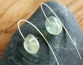 Prehnite tumble sterling silver Earring