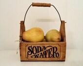 Vintage Wood Soda Water Box