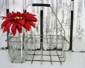 Vintage Industrial Wire Bottle Holder Basket