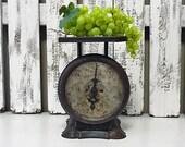 Rustic Black Vintage Pelouze Kitchen Scale