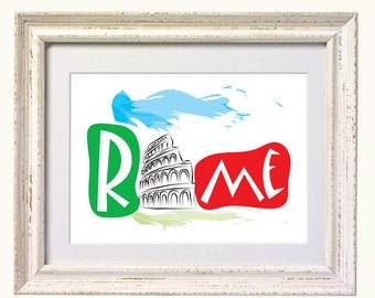 Art Print of the Eternal City of Rome, Italy