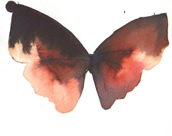 rust red, gold, scarlet and brown butterfly