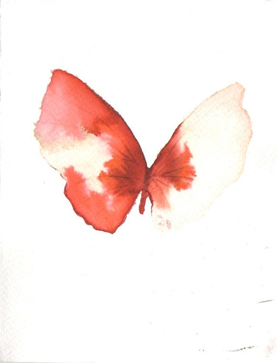 bright red and white gold butterfly