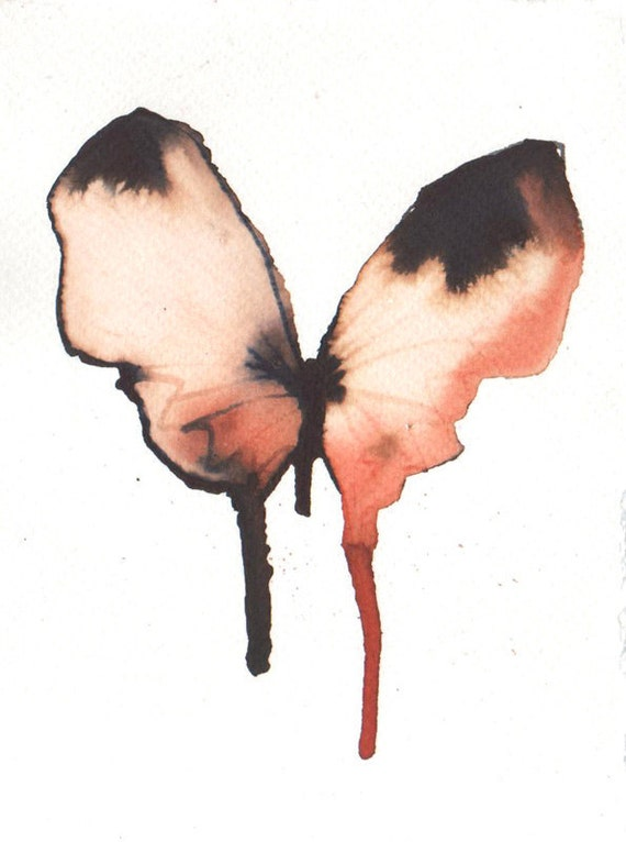 exotic pale gold, black and rust red butterfly