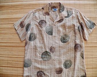 Men's Vintage 50s Andrade Silk Hawaiian Aloha Shirt - L -The Hana Shirt Co