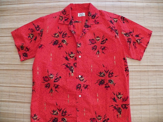 Men's Vintage 50s Liberty House Fish Hawaiian Aloha Shirt - L -The Hana Shirt Co