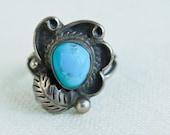 Vintage Turquoise Ring: Desert Corn Flower