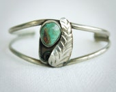 Vintage Mexican Cuff Bracelet Turquoise