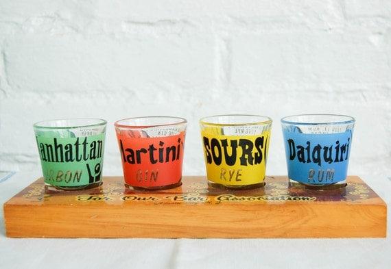 Vintage Shot Glasses 1960s Barware Souvenir from Atlantic City