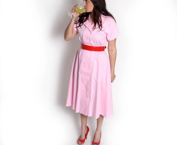 Vintage PInk Housewife Dress