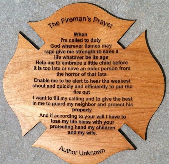 Fireman's Prayer Personalized Poem Gift For Firefighter