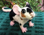 RESERVED Adorable OoaK pet MOUSE / RAT - needle felted soft sculpture - fiber art - QofQ