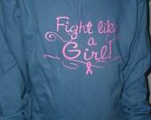 Cancer Sweatshirt Fight Like a Girl hoody