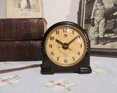 Art Deco Bakelite Telechron Alarm Clock Model 7H125