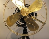 Reserved for Mike.                        Rare GE 12 inch Brass Oscillating Fan from 1912 Fully Restored
