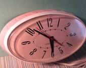 Pink GE Wall Clock 1960's
